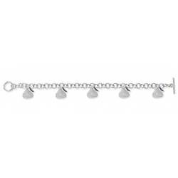 Sterling Silver Hershey s Kiss Bracelet w  Five CZ Flat Kiss Charms