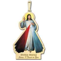 Divine Mercy Outlined Medal  Color EXCLUSIVE