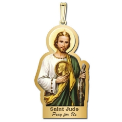 Saint Jude Outlined Color Medal   EXCLUSIVE