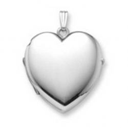 Build Your Own Sterling Silver 4 Picture Heart Locket
