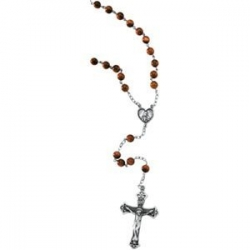 BROWN   GOLD STONE ROSARY