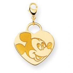 Disney Mickey Mouse Heart Lobster Clasp Charm