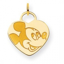 Disney Mickey Mouse Heart Charm