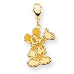 Disney Waving Mickey Mouse Lobster Clasp Charm