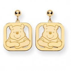 Disney Winnie the Pooh Square Post Dangle Earrings