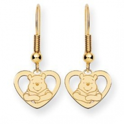 Disney Winnie the Pooh Heart Shepherd Hooks Earrings
