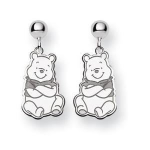 550fbbdbe6e00 Sterling Silver Disney Winnie the Pooh Post Dangle Earrings