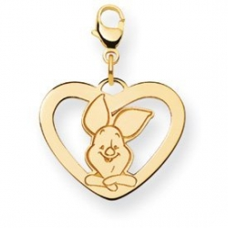 Disney Piglet Medium Lobster Clasp Heart Charm