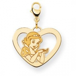 Disney Snow White Lobster Clasp Heart Charm