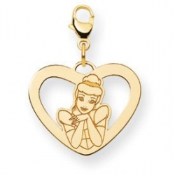 Disney Cinderella Heart Lobster Clasp Charm