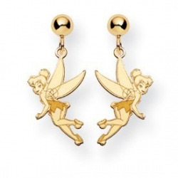 Disney Tinker Bell Post Dangle Earrings