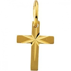 14K YELLOW GOLD CHILD S CROSS PENDANT W STAR