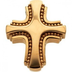 14K Yellow Gold SMALL CROSS SLIDE