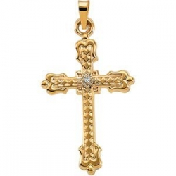 CROSS PENDANT W DIAMOND
