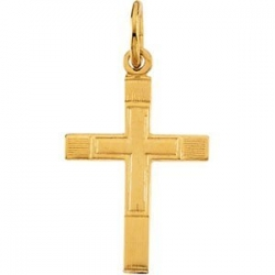 14K Yellow Gold CHILD S CROSS PENDANT