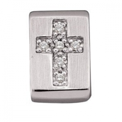 DIAMOND CROSS PENDANT SLIDE