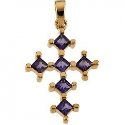 GENUINE AMETHYST CROSS