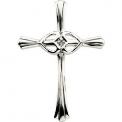 CROSS PENDANT WITH DIAMOND