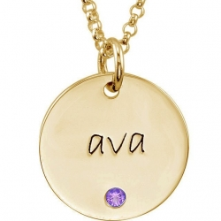 Posh Mommy  Birthstone Disc