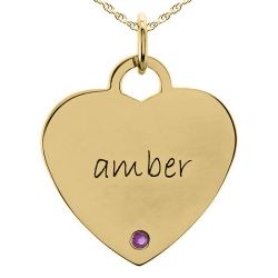 Posh Mommy  Birthstone Heart Shape Pendant