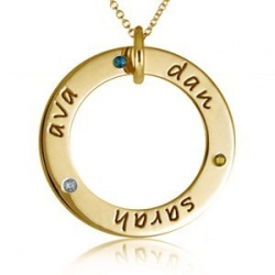 Posh Mommy     Three Birthstones Disc