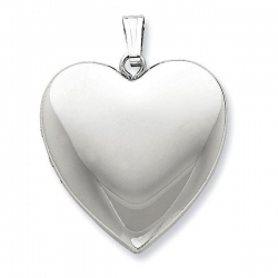 Sterling Silver Large  Plain  Heart Locket