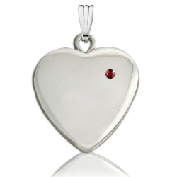 Sterling Silver  Heart with Birthstone Locket