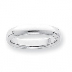 Platinum 5mm Half Round Comfort Fit Lightweight Band