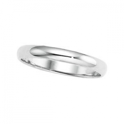 Platinum 2mm Half Round Wedding Band