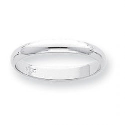 Platinum 3mm Half Round Wedding Band