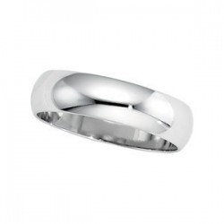 Platinum 8mm Half Round Featherweight Band