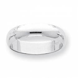 Platinum 6mm Half Round Featherweight Band
