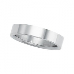 Platinum 4mm Flat Wedding Band