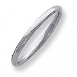 Palladium Medium Weight 2mm Comfort Fit Wedding Band