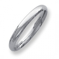 Palladium Medium Weight 3mm Comfort Fit Wedding Band