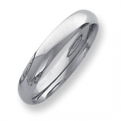 Palladium Medium Weight 4mm Comfort Fit Wedding Band