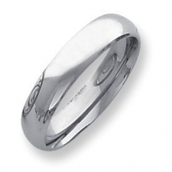 Palladium Medium Weight 5mm Comfort Fit Wedding Band