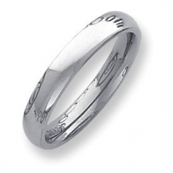 Palladium Heavy Weight 4mm Comfort Fit Wedding Band