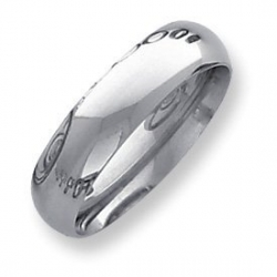 Palladium Heavy Weight 6mm Comfort Fit Wedding Band