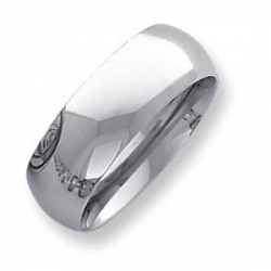 Palladium Heavy Weight 8mm Comfort Fit Wedding Band