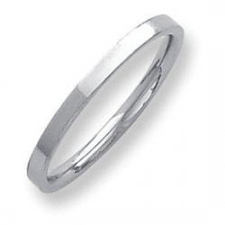 Palladium Flat 2mm Wedding Band