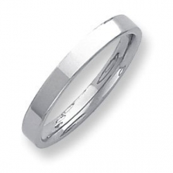 Palladium Flat 3mm Wedding Band
