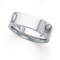 Palladium Flat 6mm Wedding Band