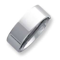 Palladium Flat 8mm Wedding Band