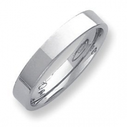 Palladium Flat 4mm Wedding Band