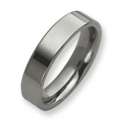 Tungsten Flat 6mm Polished Wedding Band