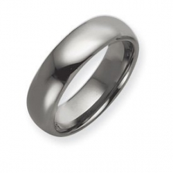 Tungsten 7mm Polished Wedding Band