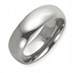 Tungsten 8mm Polished Wedding Band