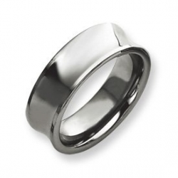 Tungsten Concave 8mm Polished Wedding Band