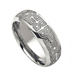 Tungsten 8mm Laser Design Wedding Band